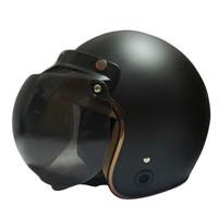 Helm Retro List Chrome HKM Black Doff Gold L