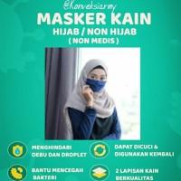 Masker Kain 2 lapis / Masker hijab