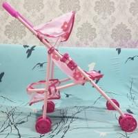 mainan stoller bayi /Boneka bahan BESI dan boneka bayi / boneka susan