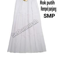 rok putih rempel panjang SMP