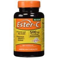 American Health, Ester-C with Citrus Bioflavonoids, 500 mg, 120 Capsul