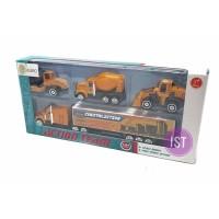 Mainan Anak Die Cast Action Team Container Contruction 4 pcs 5002A