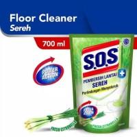 SOS SABUN PEMBERSIH LANTAI ANTI BACTERIAL SEREH 700ML REFILL