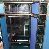 Lemari Baju Aluminium Coklat 120x50x180 cm (PLT) Pintu Cermin