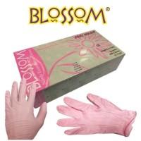 sarung tangan glove blossom-nitrile-isi-100-warna-pink