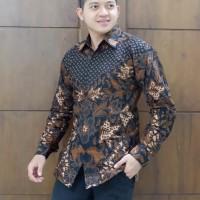Sekar Jagad kemedja furing batik solo pria lengan panjang - Panjang, M