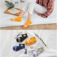KM01 Kaos Kaki Pendek Wanita Big Smile Women Low Socks