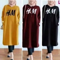 Long Tunik HM Muslim Fashion Terlaris Di Jamin Termurah