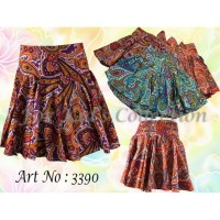 rok celana anak perempuan Sz 1-8 circle batik