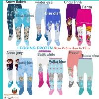 Legging bayi perempuan tutup kaki motif Frozen Elsa Anna