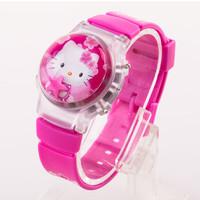 Jam Tangan Wanita Fashion Rubber Band Cartoon Hello Kitty Jam Anak