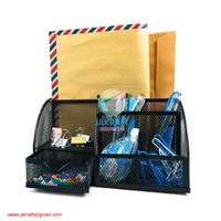 Desk Set JOYKO DS-22 Tempat Alat Tulis Pensil Meja Jaring Besi Lengkap