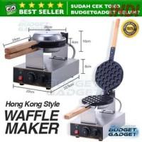 Mesin Cetakan Kue Egg Waffle Hongkong Style 220V 110V