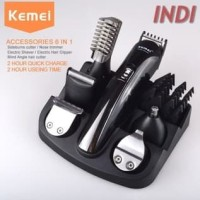 Paket Kemei Alat Cukur Elektrik 6 in 1 Hair Trimmer Shaver KM 600