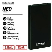 Delcell NEO Powerbank 10000mAh Real Capacity Polymer Battre Silver