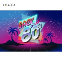 Laeacco Back to the 80's Photo Backgrounds 80s Party Decoration