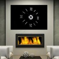 PBY Modern DIY Interior Roman Wall Clock Wall Clock 3D Sticker Home