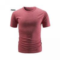 untuk Lengan Neck Slim Round Polos Fit di Pendek T-Shirt Musim Panas W