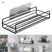 Kitchen Bathroom Shower Caddy Shelf Wall Mount Corner Organizer Stora