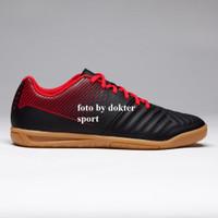 sepatu futsal anak AGILITY 500 KIDS FUTSAL BOOTS - BLACK/RED