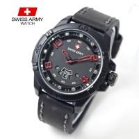 jam tangan SWISS ARMY PRIA TANGGAL HARI ANGKA KULIT