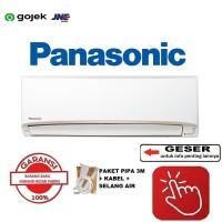 PANASONIC AC 1/2 PK PN5UKJ R32 + PASANG + tanpa PIPA 3MTR - RESMI