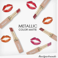 Purbasari Metallic Color Matte Lipstick
