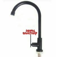 Kran Angsa Meja stainless 304 HITAM/Keran air sink cuci piring