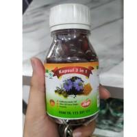 habbatusauda JHP 3 in 1 plus minyak zaitun dan propolis isi 200 kapsul