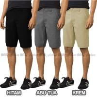 Celana Pendek Chino/Chinos/Cino Pria/Cowok - Abu/Grey/Hitam/Krem/Cream