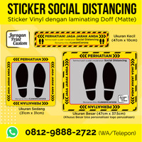 Sticker Lantai Social Distancing Corona | Vinyl Jaga Jarak Distance