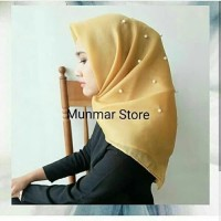 HIjab Jilbab Kerudung Segiempat Organza silk Premium Mutiara