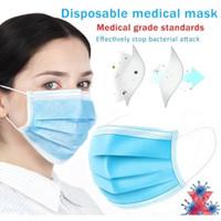 Masker BEDAH Medis 3 Ply Masker Kesehatan Earloop ANTI BAKTERI VIRUS
