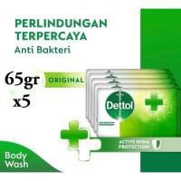 Dettol Sabun Batang Original 65Gr Isi 5Pc