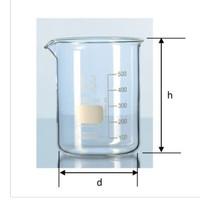 BEAKER GLASS 10000ml. D170xH270mm. Low Form. Gelas Kimia. DURAN