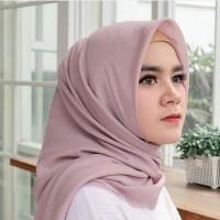 SALE PENGHABISAN Hijab Najma Premium Voal Cendani Lasercut - Tea Rose