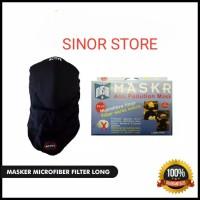 Masker Micro Fiber MASKR Original Panjang Motor Biker Tanpa Carbon