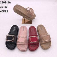 Sandal Fashion selop kaca Gesper Tebal5cm BALANCE 1603 Wanita dewasa
