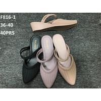 Sepatu Fashion wanita wedges Jelly Balance F816