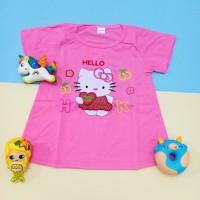 Kaos Atasan Anak Perempuan motif Hello Kitty Full Bordir