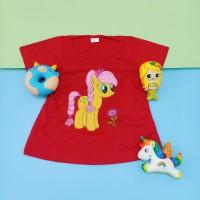 Kaos Atasan Murah Anak Perempuan Motif Little Pony Full bordir