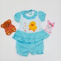 Baju Setelan Baby Motif Bebek Duck Warna /Baju Bayi
