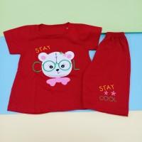 Setelan Pendek Anak Perempuan Motif Bear 2-5 Thn / Baju Anak Perempuan