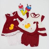 Setelan Bayi Perempuan model Kimono motif bebek