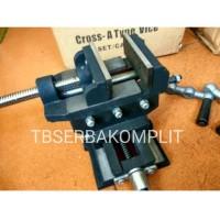 Ragum Cross 5inch 5 inch inci Catok Silang Bench cros Vise mesin bor