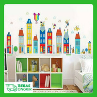 WALL STICKER KOTA TOWN ANAK KIDS MICKEY MINNIE MOUSE