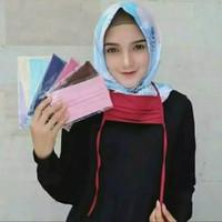 Masker kain tali hijab