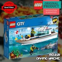 LEGO Original CITY 60221 Diving Yacht - Mainan Anak Edukasi Lego Kapal