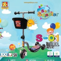 Skuter Roda Tiga Anak PMB S01 Nikel/ Mainan Anak Scooter Ada Musik