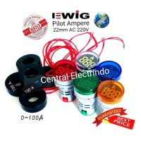 Pilot Lamp LED With Ampere Indicator 0~100A 22mm AC 220mm.